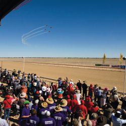 Birdsville Races Gates Cathy Finch - Crooked Compass by Air