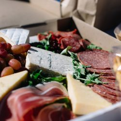 cold meats and cheese plate Callubri Farm Crooked Compass by Air