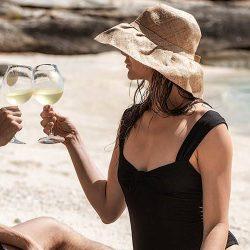 Lizard_Island_Dom_Perognon_Wine_Glasses_Beach - Crooked Compass by Air