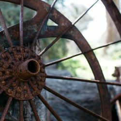 Rusted wheel Callubri Station Crooked Compass by Air